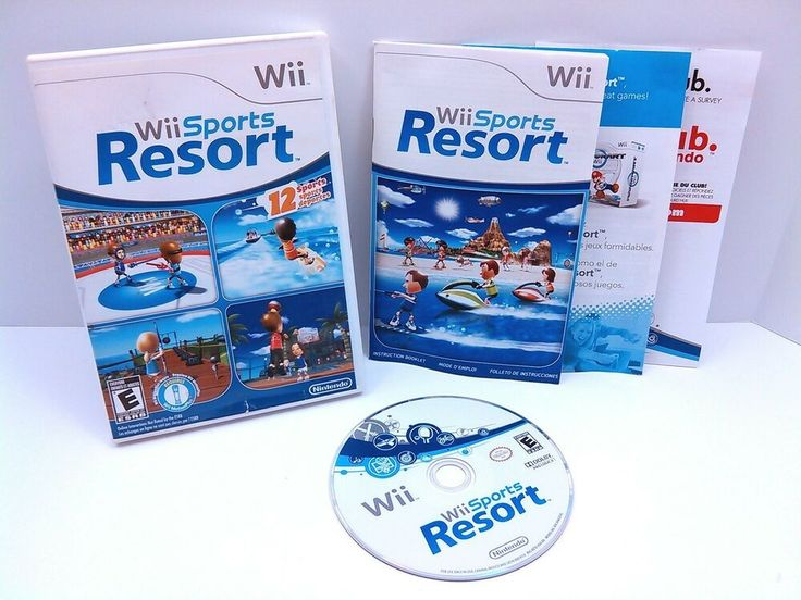 WII SPORTS RESORT Nintendo Wii game COMPLETE+ NEAR MINT