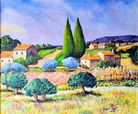 aquarelle paysages de provence recherche google art peinture paysages pinterest provence. Black Bedroom Furniture Sets. Home Design Ideas