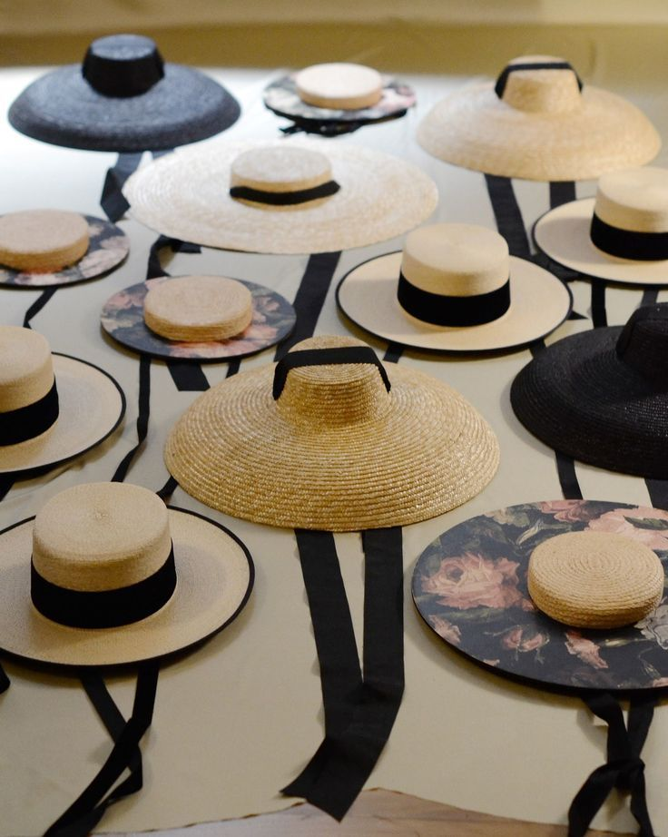 e72bcf97c4d Wide brimmed straw hats with ribbons - so feminine and stylish  hats   fashion  accessories
