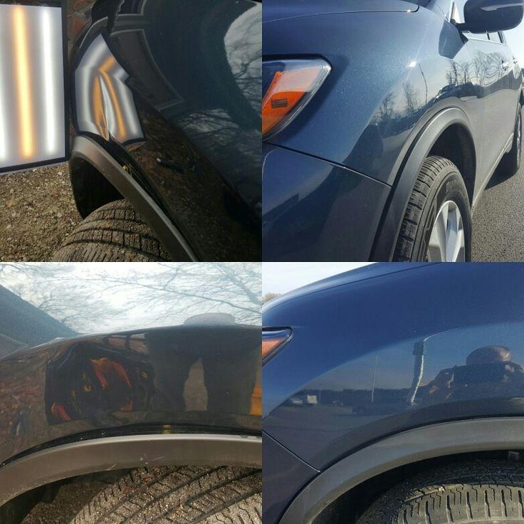 Warsaw Paintless Dent Repair, 15 blue Nissan Rouge.