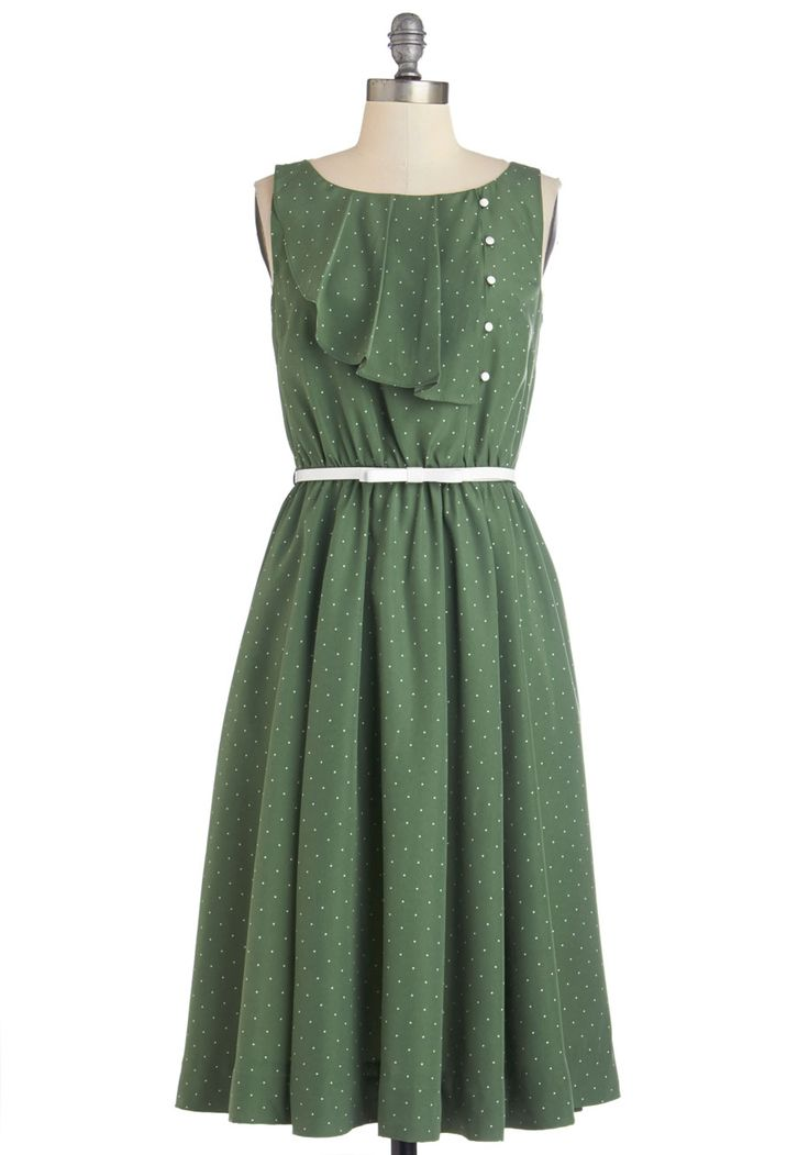 Very Sage Advice Dress. People take your suggestions seriously, especially when you're oozing confidence in this vintage-inspired A-line dress by Myrtlewood! #green #modcloth