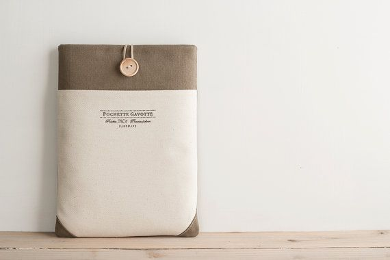 15+inch+Macbook+Pro%2C+Retina+case+15%26quot%3B+Custom+Laptop+sleeve+%2F+Taupe+stone+grey+Ivory+pocket+Greige