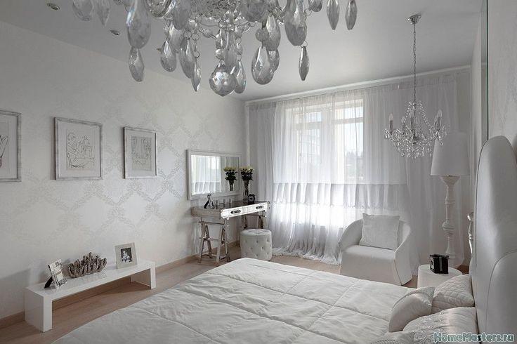 Серебряная спальня | Дизайн интерьера спальни | Фотогалерея ремонта и дизайна | Школа ремонта. Ремонт своими руками