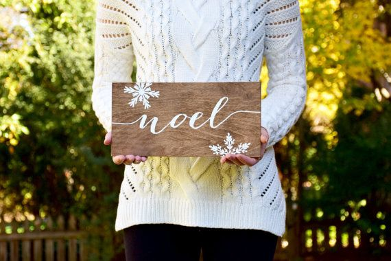 PRODUCT INFO: Noel sign. - Sign measurements: 5.5x11 or 8x16 (please message for larger sizes)  - Made out of birch plywood and stained with
