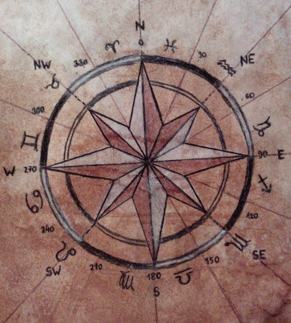 Compass Rose by stanleemacha on @DeviantArt