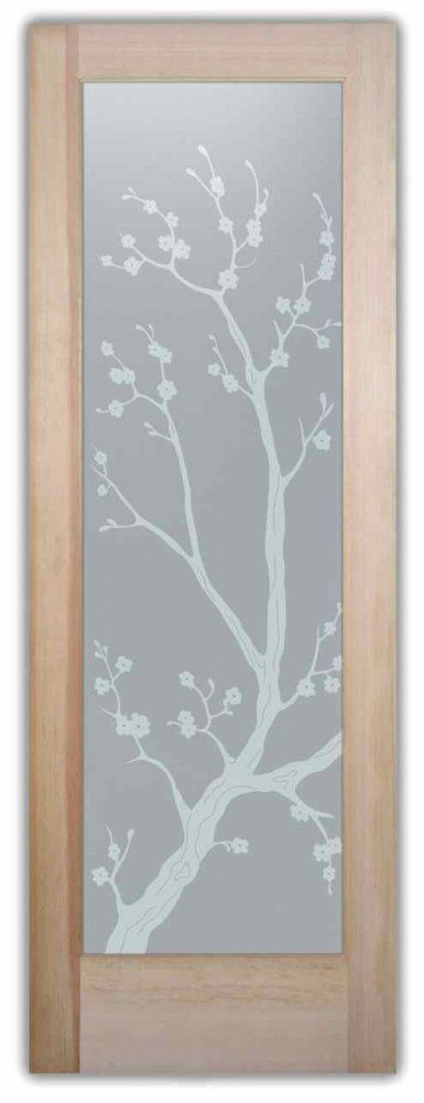 Cherry Blossom   Frosted Glass Interior Door   Sans Soucie Creates Interior Glass  Door Designs Thru Part 47