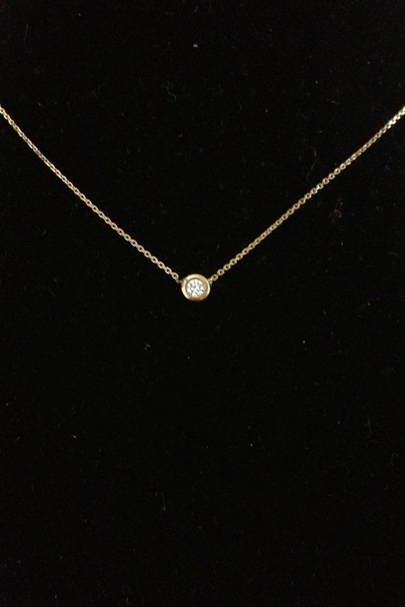 Gold and Diamond Necklace w/ Diamond Back Hanger #gold#diamond#necklace