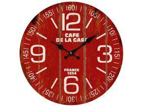 Nástěnné hodiny RED Cafe, 34 cm