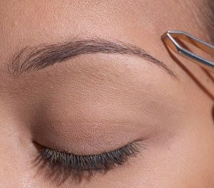 Brow Tip #5 Tweezing above the brow. Yes or no?