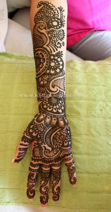 Full Arm Peacock Amazing Henna