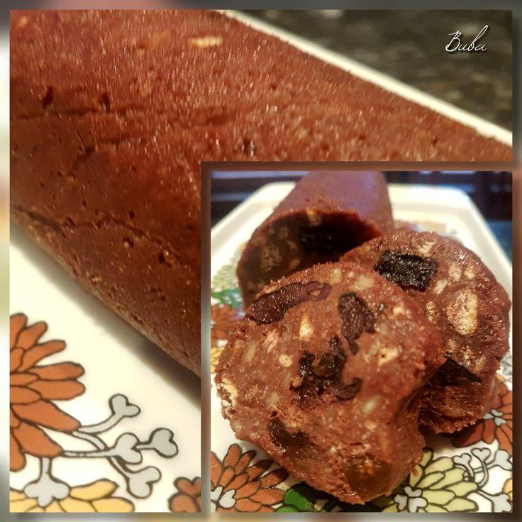 Chocolate Salami with Raisins, Figs & Hazelnut
