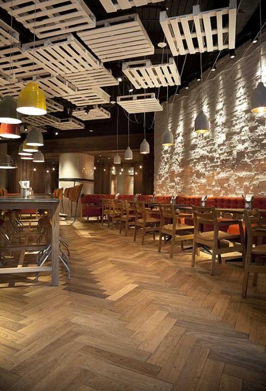 Herringbone timber flooring