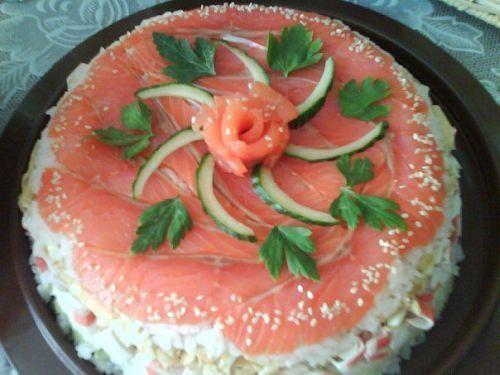 суши торт самый лучший рецепт