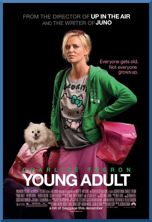 Young Adult, terzo film scritto da Diablo Cody, esplora il mondo degli over 30 che guardano con nostalgia ai tempi delle scuole superiori.