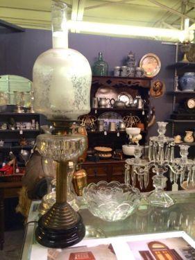 "19th Century English Converted Lamp  30"" Tall  $445  Butler Creek Antiques Dealer #8804  Lucas Street Antiques 2023 Lucas Dr. Dallas, TX 752..."