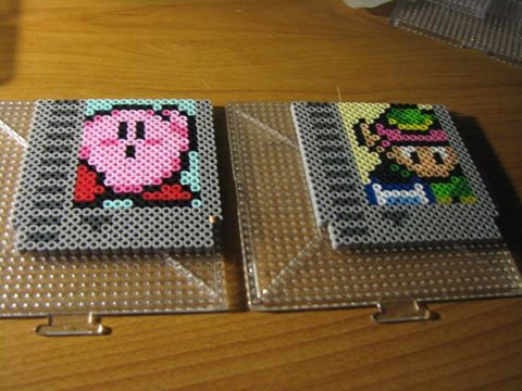 Original NES cartridges made from perler beads