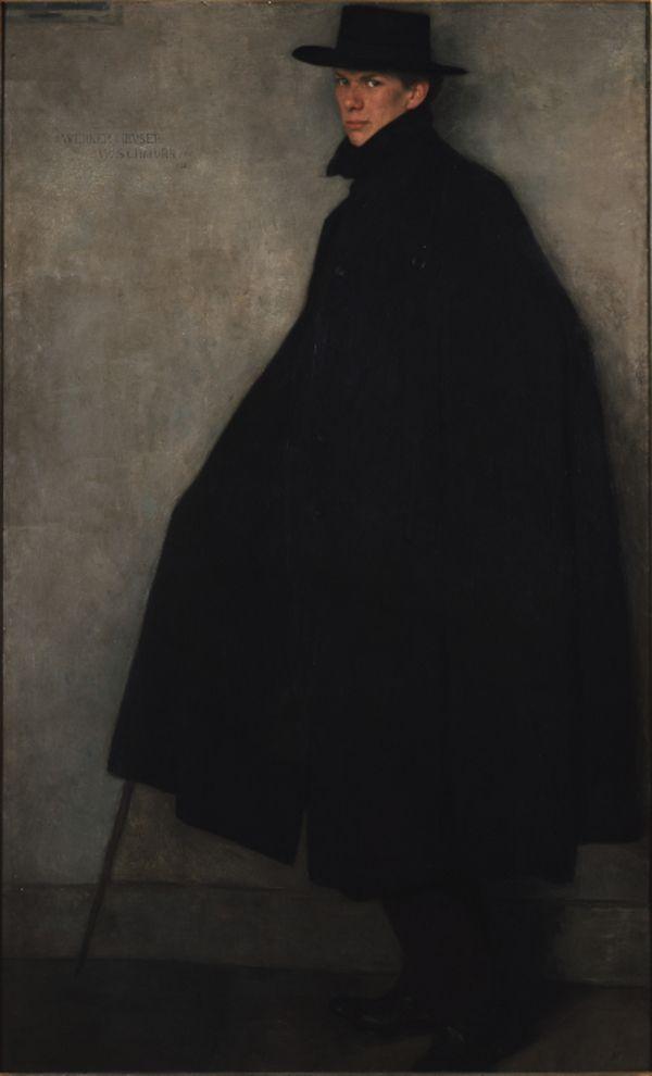 Wilhelm Schmurr (German 1878-1959) Portrait of Werner Heuser, 1902, oil/canvas, Museum Kunstpalast, Düsseldorf