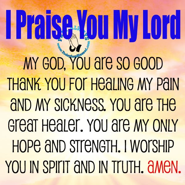 GOD IS MY HEALER