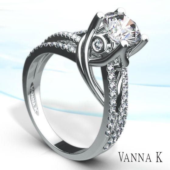 Wrapped in love. Today.Tomorrow. Forever....   style #18RGL01165DCZ #glamour #unique #Diamonds #weddings #VannaK