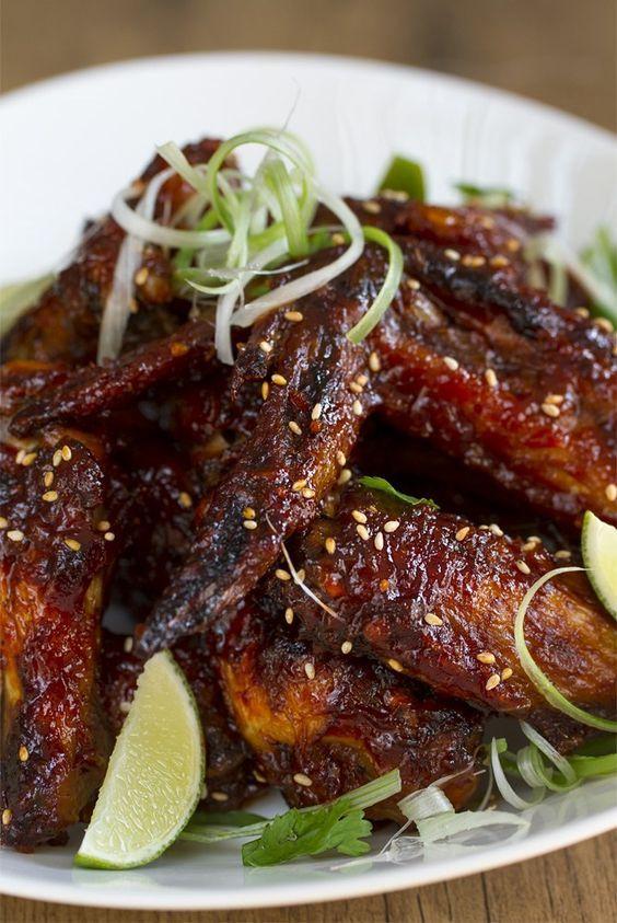 Alitas de pollo picantes estilo thai, Alitas de pollo picantes, Alitas de pollo