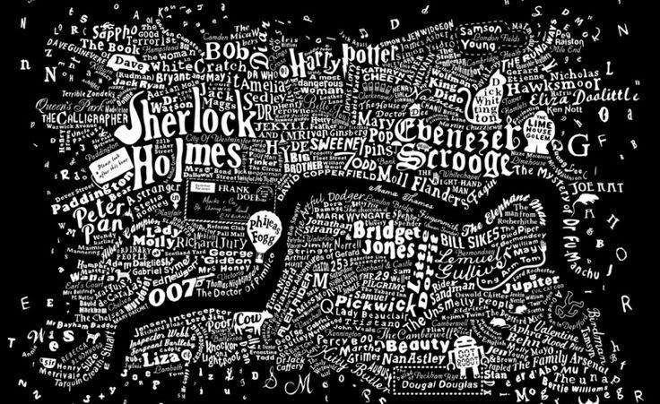 Literary map of London