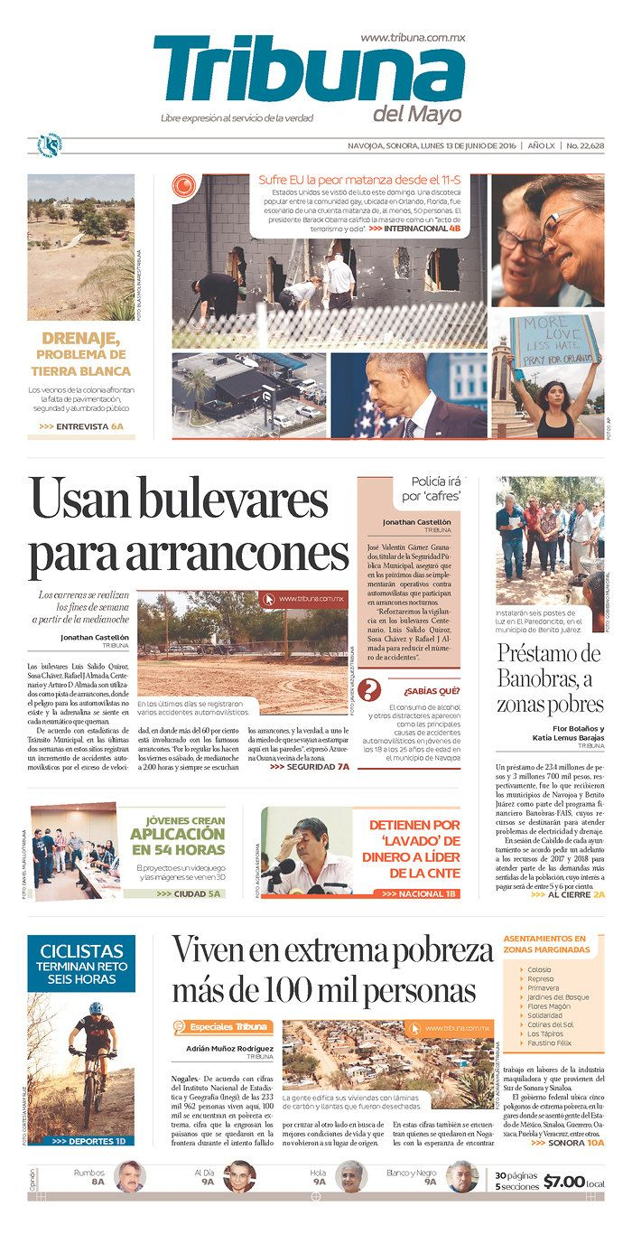 Tribuna del Mayo | Today's Front Pages | Newseum
