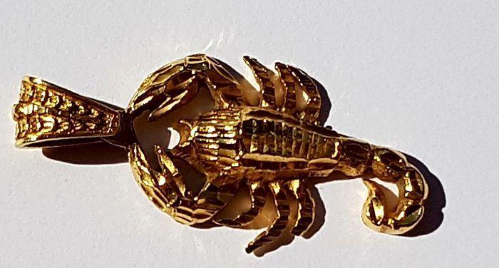 Scorpion hanger  18 kt massief gouden hanger scorpion vormHet heeft het waarmerk dat aangeeft van de gouden kwaliteitVan scorpion zegt de legende een dier dat ziet er zo klein maar zo krachtigHier een samenvatting:Verhaal vertelt dat een dag die Artemis was de jacht wanneer in het midden van het bos de reus Orion verscheen. Hij zag de jonge en mooie vrouw en probeerde te verleiden haar. Maar Artemis een kaste goddelijkheid was en ter verdediging van zichzelf ze beweren dat de steun van een…