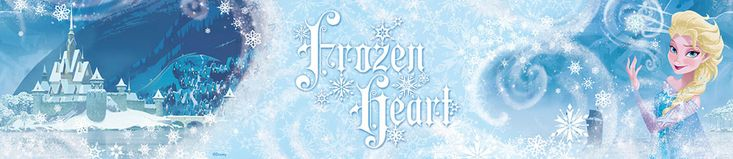 Disney Frozen Heart Elsa 5m Wallpaper Border Official