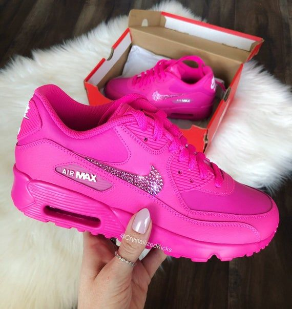 Bling Swarovski Nike Air Max 90 Youth Women Made with