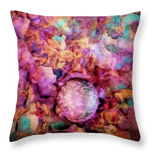 Rivets Throw Pillow featuring the photograph Riveting by Leslie Montgomery