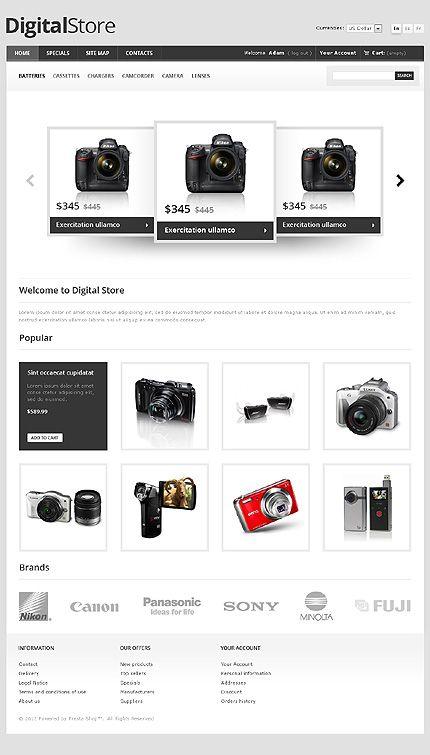 Digital Photo PrestaShop Themes by Hermes