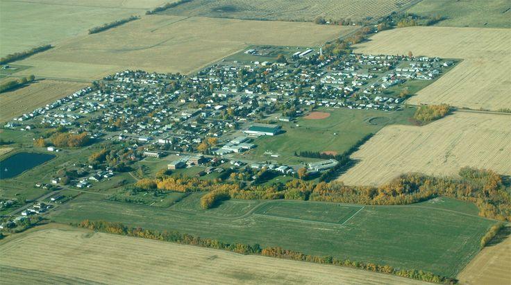 Aerial view of Legal, Alberta