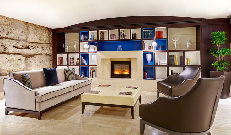 hotel library interior design
