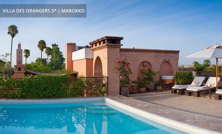 VILLA DES ORANGERS 5* │ MAROKKO Pool auf der Dachterrasse