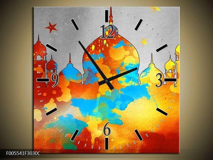 Schilderij met Klok Moskee #wandklok