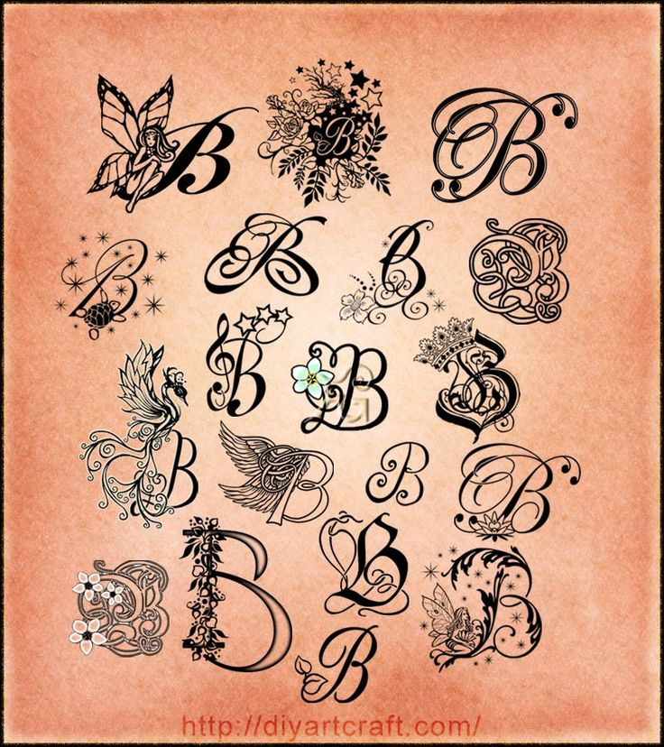 Letter P Tattoo Designs With Crown