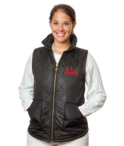 Alpha Sigma Alpha Sorority Puffer Vest Sorority Merchandise Including Bid Day Gifts, Initiations, Sorority Gifts, BigSis-LilSis, And More.