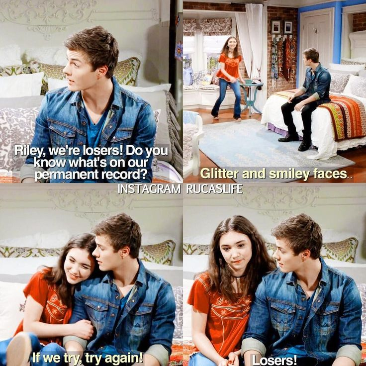 """#GirlMeetsWorld 3x04 """"Girl Meets Permanent Record"""" - Riley and Lucas"""