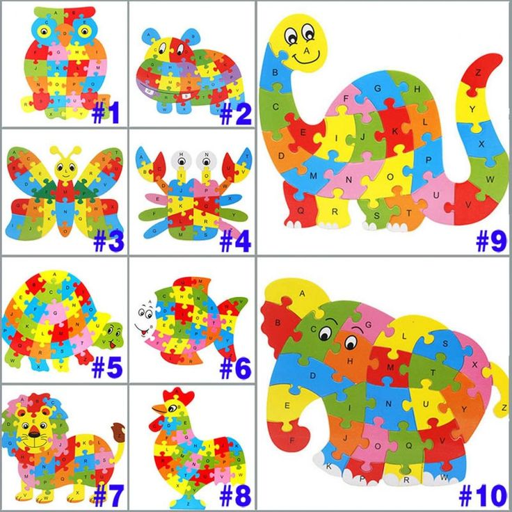 Kids Jigsaw Puzzle Wooden Animal Learning Toys Educational Alphabet Pattern New #Unbranded #Animal