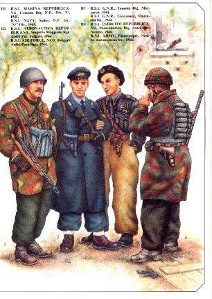 Uniformi Repubblica Sociale - pin by Paolo Marzioli