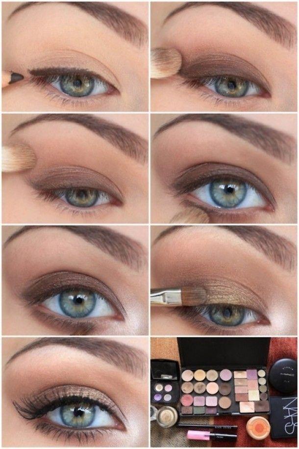 Brown eye make up. Jane Dawn, Gold bare