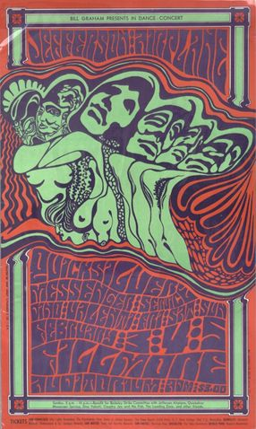 Bill Graham presents in dance-concert, Jefferson Airplane, Quicksilver Messenger Service, Dino Valenti, Friday, Saturday, Sunday, February 3, 4, 5, Fillmore Auditorium, 1967