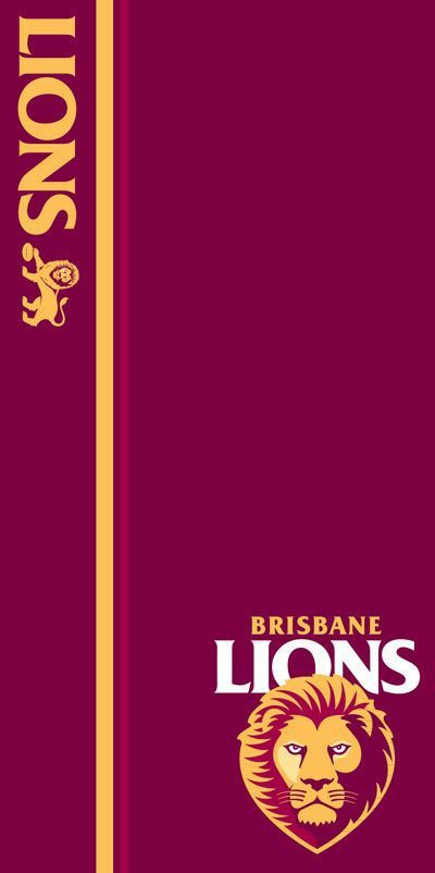 AFL Brisbane Lions Beach Towel - Wholesale Pool & Spa Supplies Pty Ltd