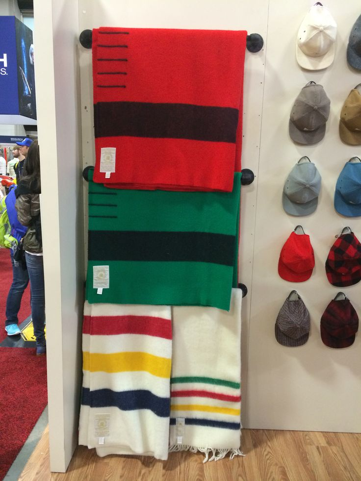 Hudson's Bay Blankets at the Woolrich booth at Summer Outdoor Retailer 2014