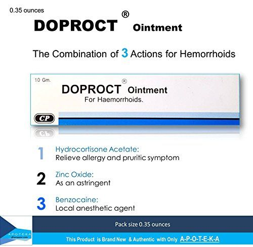 Hydrocortisone Hemorrhoids Relief Ointment (Doproct Ointment Packing 0.35 ounces) Effective with 3 Actions for Internal and external hemorrhoids and Itching proctitis *** More info could be found at the image url.