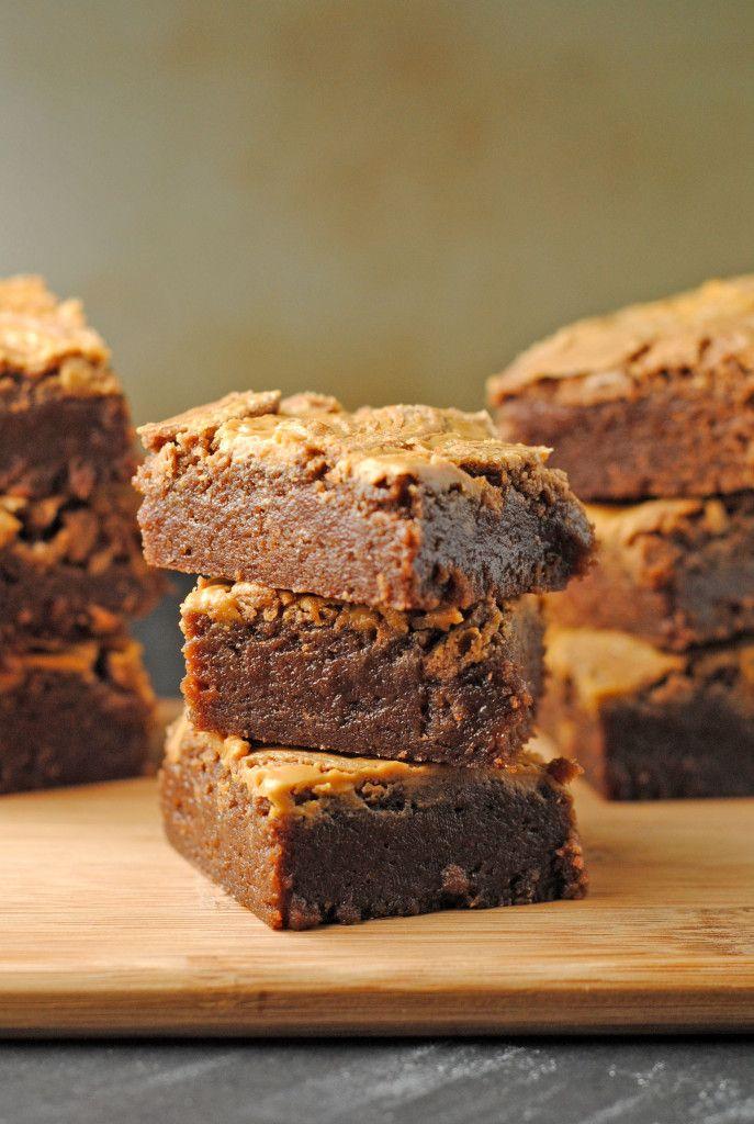 One-Pot Fudgy Peanut Butter Swirl Brownies from @Jen @ Juanita's ...