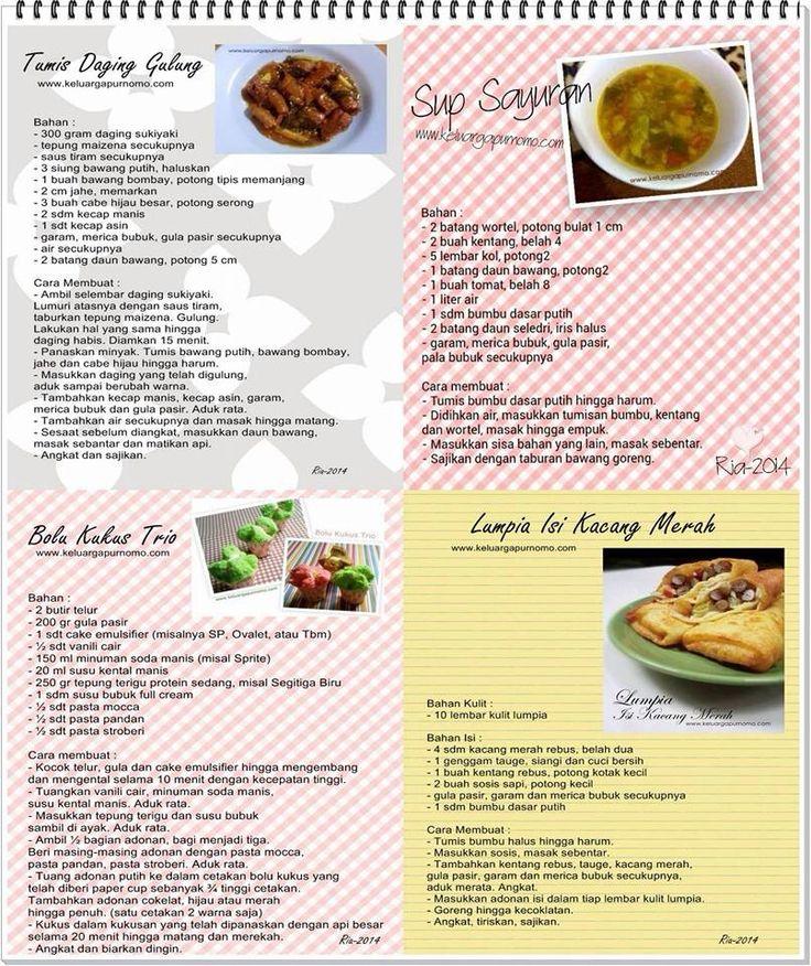 Tumis daging gulung, sup sayuran, bolu kukus trio, lumpia isi kacang merah