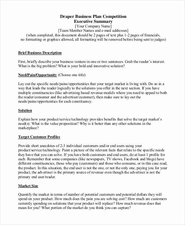 Executive Summary Sample For Proposal Inspirational Sample Executive Summary 8 Examples In Executive Summary Executive Summary Template Business Plan Template