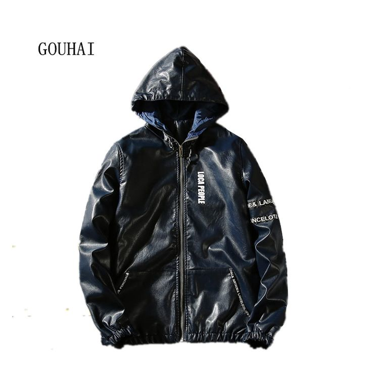 2016 Fashion Men's Leather Jacket Hooded Plus Size M-4XL 5XL Mens Casual Coats PU Leather Jaqueta Couro Masculino High Quality