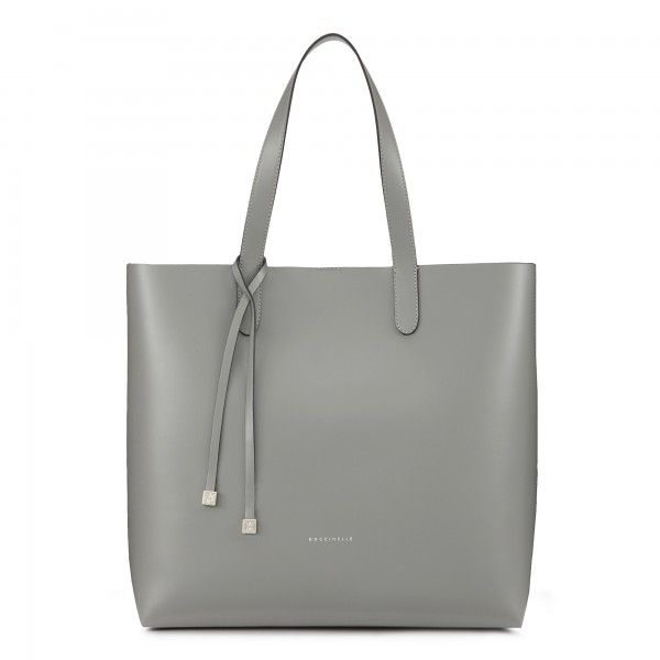 Shopping bag in pelle liscia bicolor Coccinelle - Borse Coccinelle
